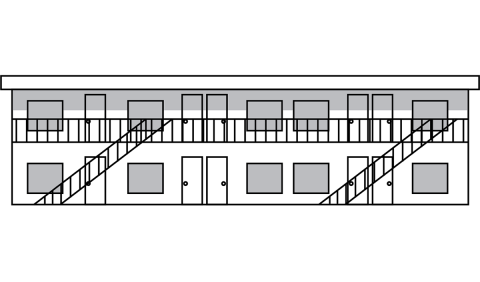 drawing of multi unit housing