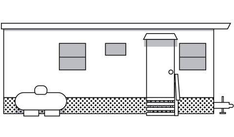 drawing of a mobile home